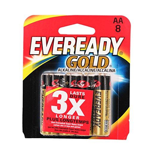 Battery Alkaline Gold 8pack/Aa