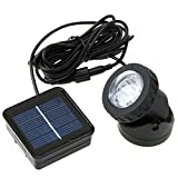 beautifulwoman Waterproof Solar Powered led Spotlight spot Light lamp Garden Pool Pond Outdoor