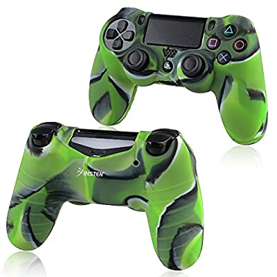 Everydaysource Compatible With Sony PlayStation 4 (PS4) Controller Camouflage Navy Green New Protective Rubber Silicone Skin Case Cover from Everydaysource