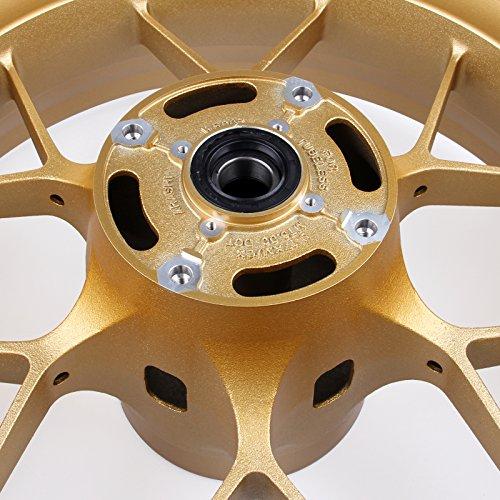 Artudatech Rear Wheel Rim For Honda CBR1000RR CBR 1000RR 2008-2014 Gold by Artudatech (Image #1)