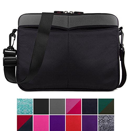 op Sleeve Tablet Bag, Water Resistant Neoprene Notebook Computer Carrying Cover for MacBook, Microsoft Surface, Chromebook (Grey) ()