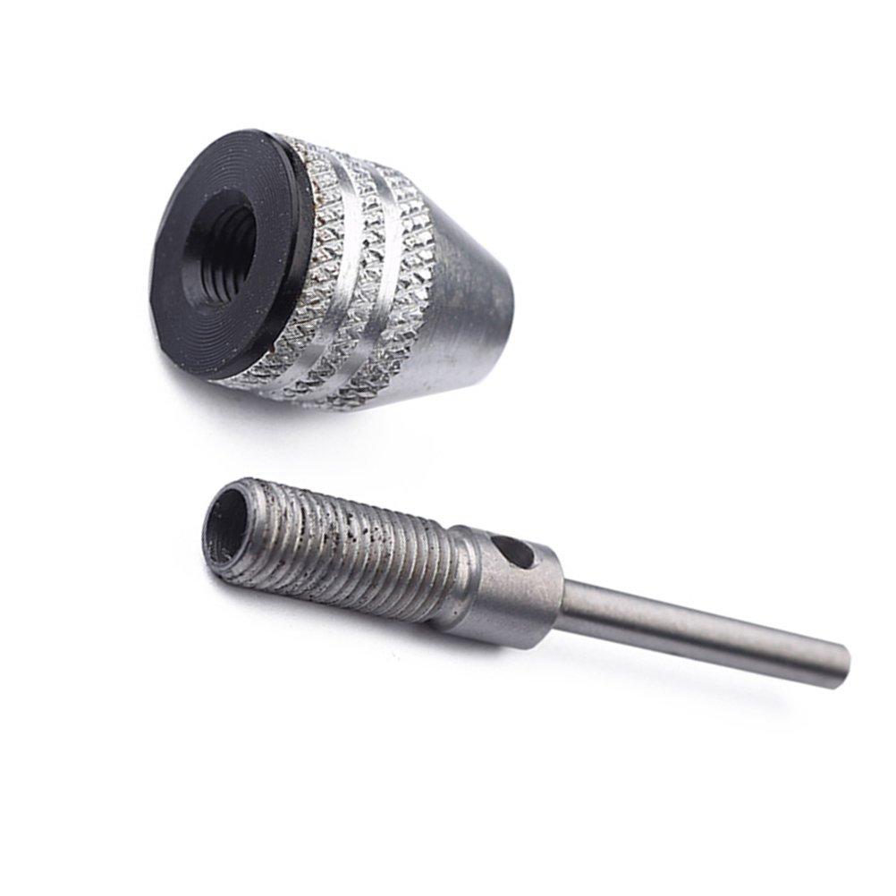 OUNONA Keyless Aluminiumlegierung Mini 3-Backen Bohrfutter Bohren Adapter Konverter zu Halten 0,3-3,4mm Bohrer Converter Tool Power Handbohrer