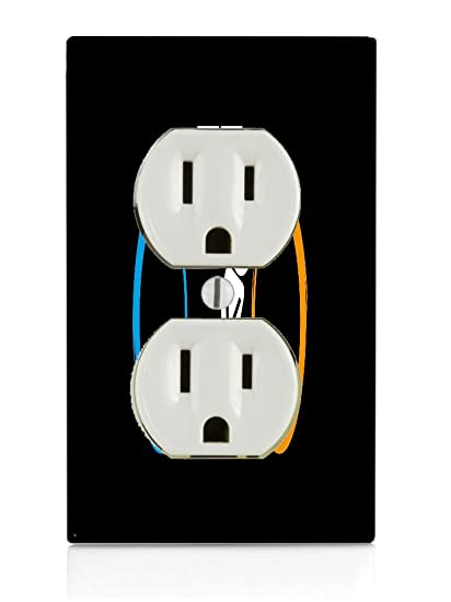 Amazon Com Funny Bathroom Sign Electrical Outlet Plate Home Kitchen