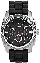 Fossil Machine Chronograph Black Silicone Mens Watch FS4572