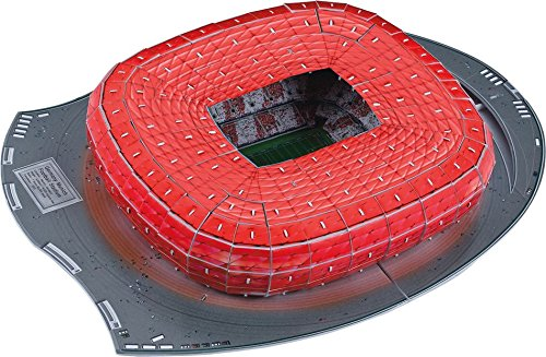 3D NANOSTAD ESTADIO WALLIANZ ARENA, BAYER MUNICH 119 PIEZAS
