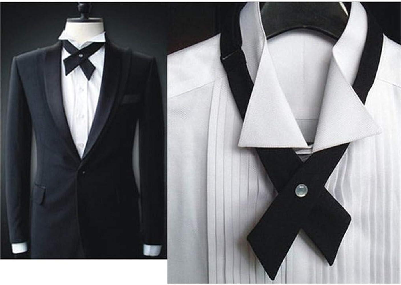 GUAngqi Graceful Unisex Ties Solid Hair Neck Accessories Adjustable Criss-Cross Tie Casual Uniform Neck Tie Cross Tie