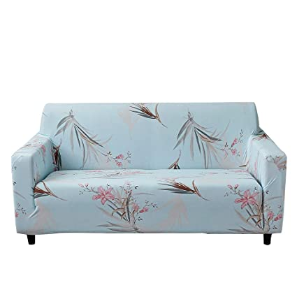 MEIQB Stretch Printed Sofa Slipcover 1 2 3 4 Seater Sofa Cover Lightweight  Slip Resistant Elastic