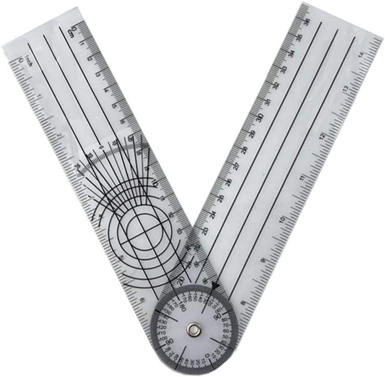 1989candy Multi-Lineal 360-Grad-Goniometer-Winkel-medizinischer Wirbels/äulenlineal-Winkelmesser