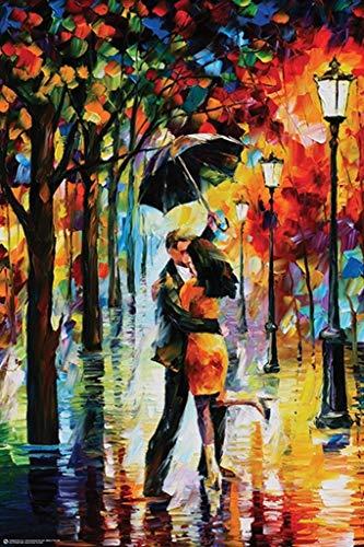Dance Under The Rain by Leonid Afremov Art Print Poster 24x36 inch