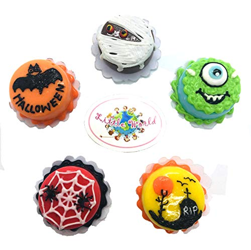 Little World ้Holloween Dollhouse Miniature Food: 5 Cakes, Food Collectibles, Dollhouse Kitchen Accessories, Dollhouse Food Size 0.79' [2 cm]. -
