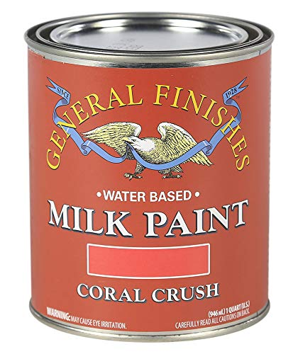 General Finishes QCC Milk Paint, 1 Quart, Coral - Finish Coral