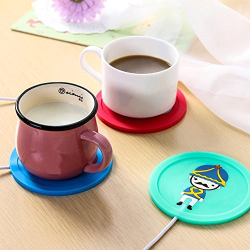 Togethluer USB Silicone Heat Warmer Heater,Milk Tea Coffee Mug Hot Drinks Beverage Cup Mat Red by Togethluer (Image #2)