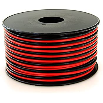 Amazon audiopipe 100 feet 16 ga gauge red black 2 conductor gs powers true 16 gauge american wire ga 100 feet 999 ofc stranded oxygen free copper redblack 2 conductor bonded zip cord powerspeaker cable for greentooth Image collections