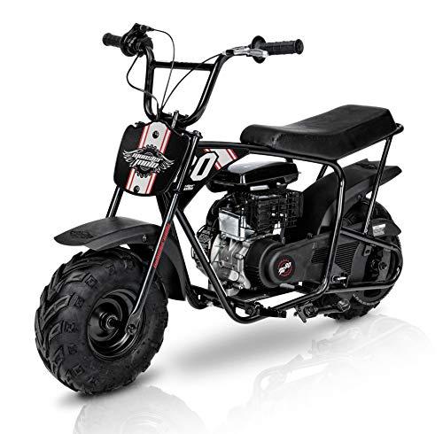 (Mega Moto - Gas Mini Bike - 80CC/2.5HP without Suspension (MM-B80-SB)(Red & Black Decal Sets), Medium )