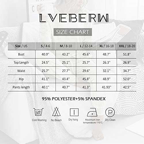 Lveberw Tie Dye Pajamas Set Women Lounge Sets 2 Piece, Long Pants Short Sleeves Tee, Sweatshirt, Sleepwear, Pjs