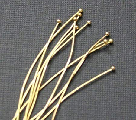 100 Silver Plated Headpins With Ball On The End  23 Gauge 2 Inch