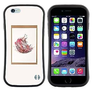 "Hypernova Slim Fit Dual Barniz Protector Caso Case Funda Para Apple (4.7 inches!!!) iPhone 6 / 6S (4.7 INCH) [Acuarela Naturaleza minimalista del cartel""]"