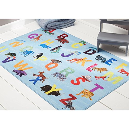 Eric Carle Elementary Alphabet Zoo Kids Educational Accent Rug 35