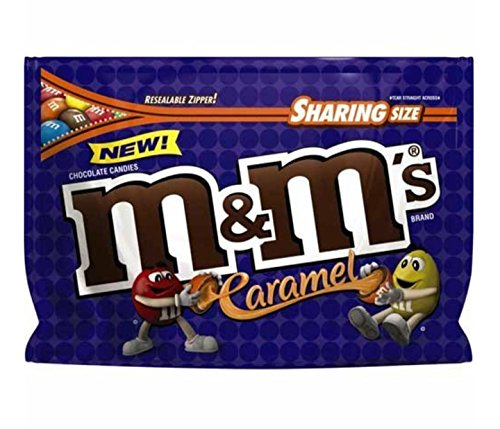 M&M's Caramel Chocolate Candy 9.6 oz Sharing Size. (Pack of 2)