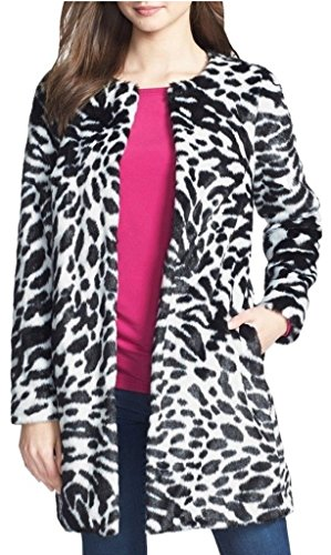 - Michael Michael Kors Women's Zebra-Print Faux-Fur Jacket Medium White/Black