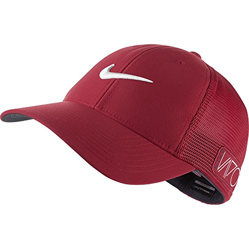 2015 NIKE Golf Tour Legacy VAPOR/RZN Mesh Fitted Cap COLOR: Gym Red SIZE: L/XL