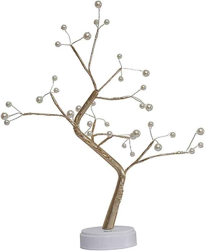 36//108 LED Perles Veilleuses Branches r/églables Bricolage Fil de cuivre Arbre de conception pour la d/écoration de f/ête de mariage Arbre Lumineux LED