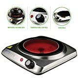 Ovente Countertop Infrared Burner – 1000 Watts – 7 Inch...