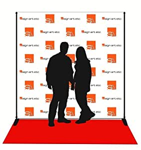 Amazon Com 8x8 Step Amp Repeat Banner Stand And Red
