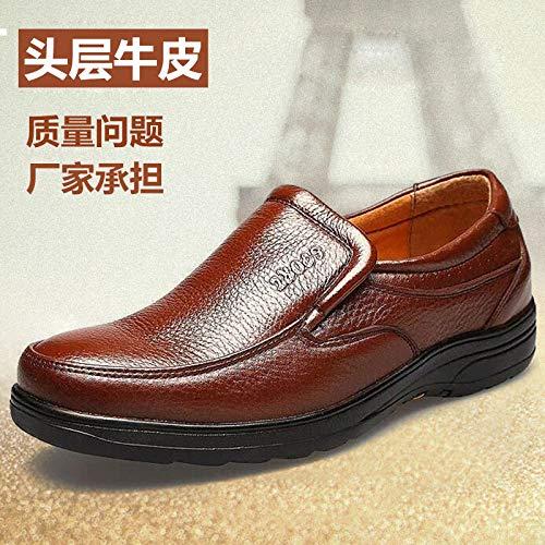 Noir LOVDRAM Chaussures Hommes Nouveaux Hommes en Cuir Chaussures Couche Supérieure en Cuir Papa Ensemble Pied Hommes en Cuir Unique Chaussures Habillées Chaussures Marée MÂle