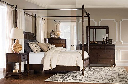 Powell's Furniture 14BO7024QCNC Passages Queen Canopy Cane Wood - Indies West Lighting