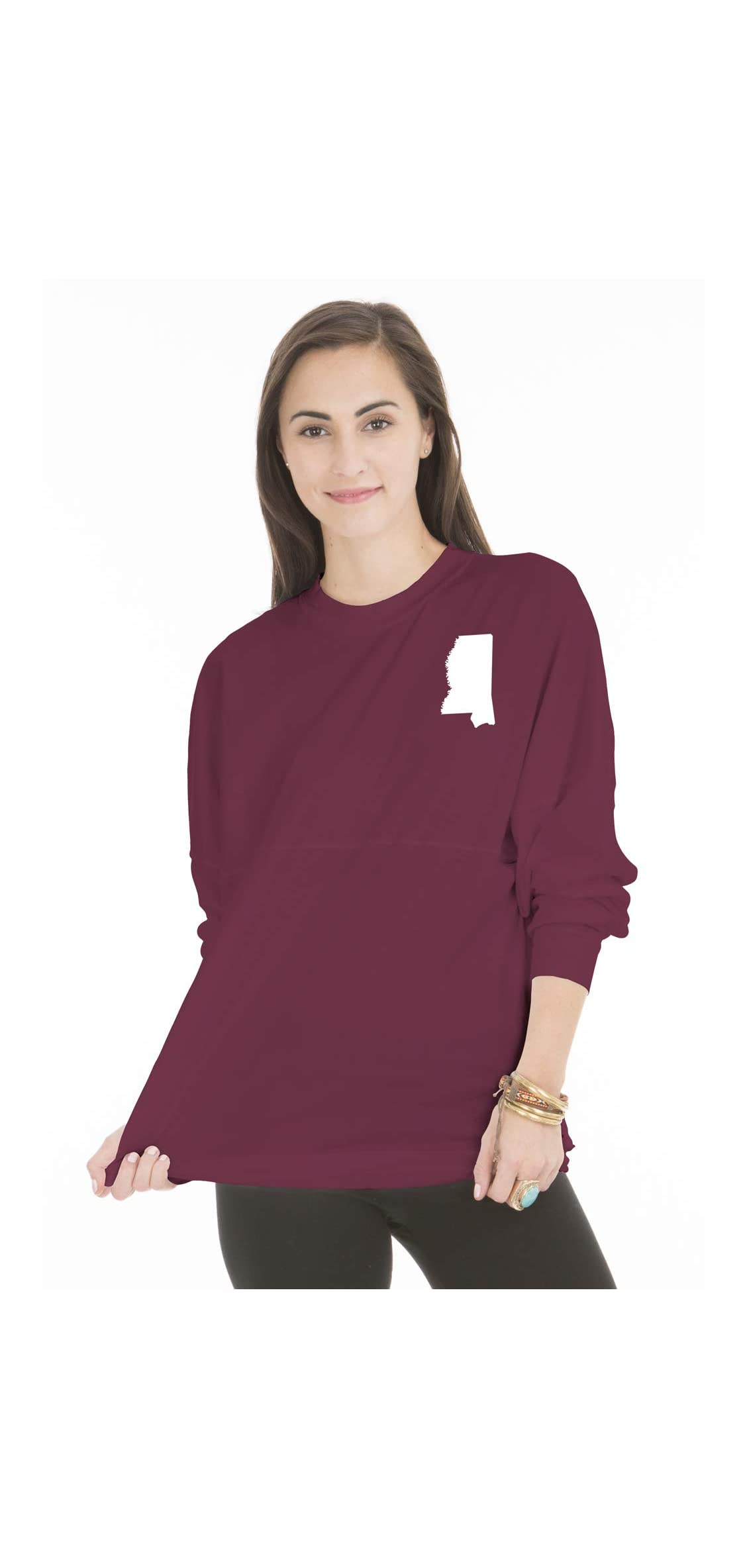 Ncaa Mississippi State Bulldogs Womens And Youth Long Sleeve Tee