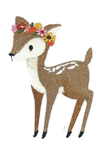 Nature weaved in threads, Amazing Sweet Woodland Fawn[Custom and Unique] Embroidered Iron on/Sew patch [4.85