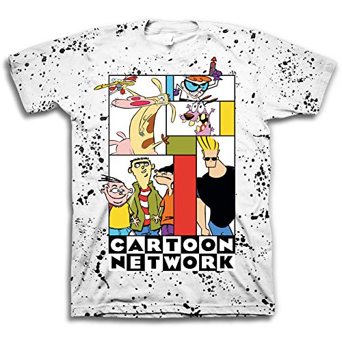 Cartoon-Network Mens Throwback Shirt - Jonny Bravo and