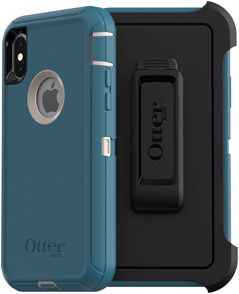 OtterBox DEFENDER SERIES SCREENLESS EDITION Case for iPhone Xs & iPhone X - Frustration Free Packaging - BIG SUR (PALE BEIGE/CORSAIR)