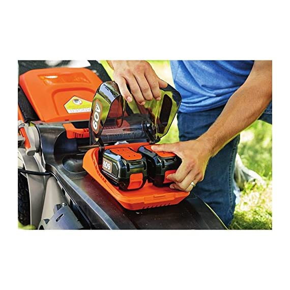 BLACK AND DECKER 60 V MAX POWERSWAP 20 In. 7 Powerswap lets you quickly swap batteries with the push of a button Autosense technology conserves Battery power when possible to give you extended runtime Includes 2) 2.5 Ah - 60V max Lithium batteries give you twice the runtime per re-charge