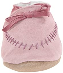 Robeez Cozy Moccasin PK Crib Shoe (Infant/Toddler),Pink,6-12 Months M US Infant