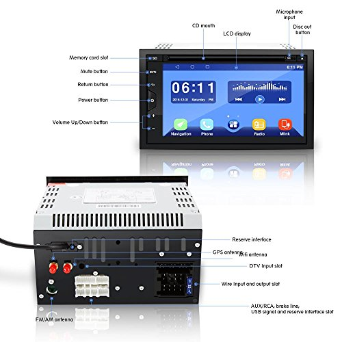 Pyle PLDAND697 Double Din Android Stereo Receiver System, 6.8 inches by Pyle (Image #3)