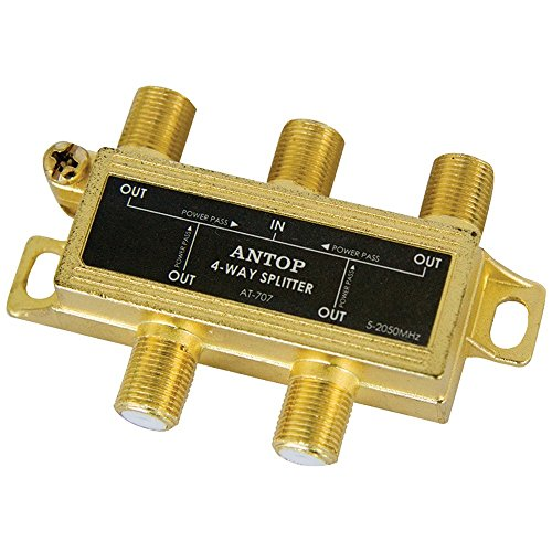 ANTOP Coaxial Cable Splitter Ultra Mini Distribution for Satellite TV Antenna Signals 2GHz- 5-2050MHz (AT-707) ()