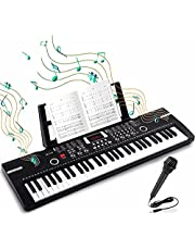 $44 » 61 Keys Keyboard Piano, HAIHEUG Electronic Digital Piano with Built-In Speaker Microphone, Sheet Stand and Power Supply, Portable Keyboard Gift Teaching for Beginners