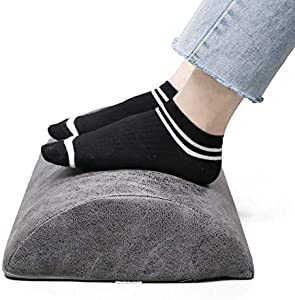 Sweepstakes: Foot Rest Cushion Under Desk-Ergonomic Footrest with Leathaire...