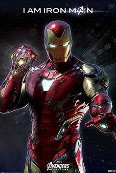 Avengers Endagme, Póster I am Iron Man, Multicolor, 61 x 91,5 cm