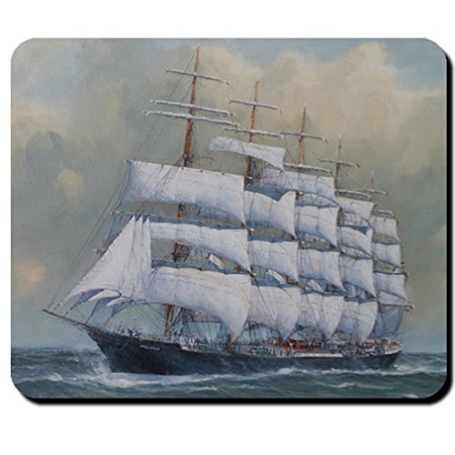 Sailboat Prussia five masted full rigged ship Reederei F LAEISZ - Mouse Pad / Mousepad