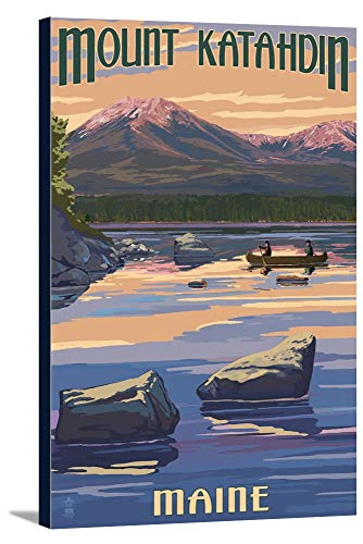 Katahdin Cabin - Mount Katahdin, Maine (24x36 Gallery Wrapped Stretched Canvas)