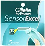 remover pg Gillette for Women SensorExcel Cartridges 5 ea