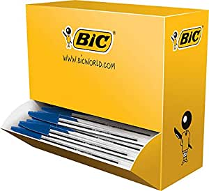 BIC Cristal Original Ball Pens Medium Point (1.0 mm) - Blue, Box of 100