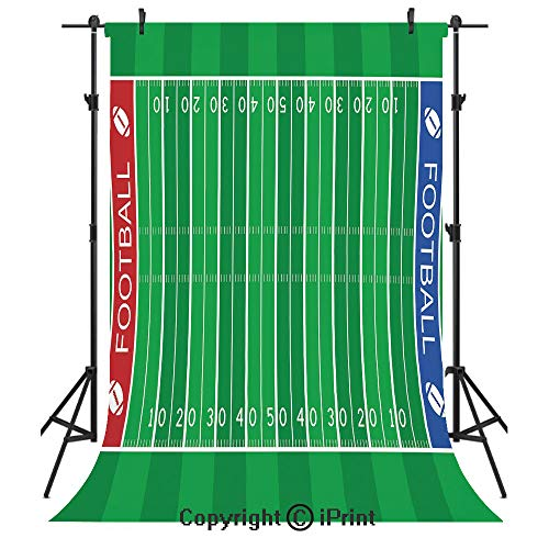 - Football Photography Backdrops,American Football Field Playground Stripes and Numbers League Scramble Score Decorative,Birthday Party Seamless Photo Studio Booth Background Banner 5x7ft,Blue Red Green