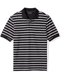 Men's Regular-Fit Striped Cotton Pique Polo Shirt