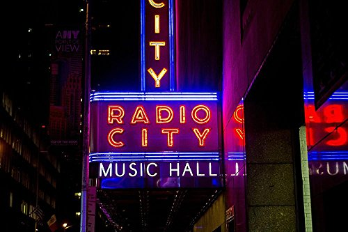 Quality Prints - Laminated 36x24 Vibrant Durable Photo Poster - Radio City Music Hall New York City Manhattan Midtown Entertainment Theater Rockettes