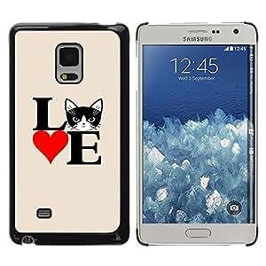 Be Good Phone Accessory // Dura Cáscara cubierta Protectora Caso Carcasa Funda de Protección para Samsung Galaxy Mega 5.8 9150 9152 // Cat Love Poster Black White Heart