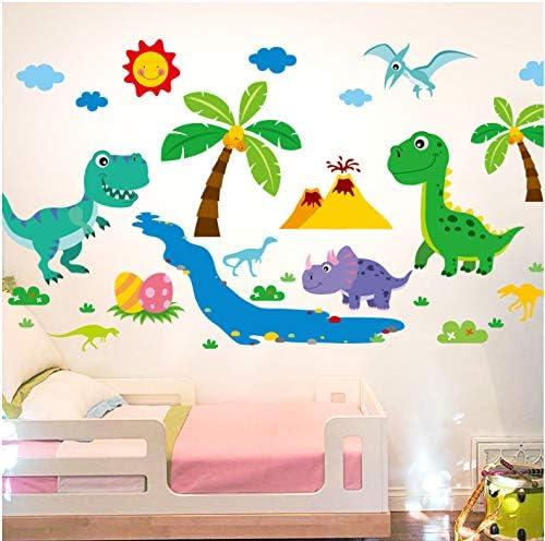 Cartoon Dinosaur Toddler's Removable and Reusable Custom Wallpaper